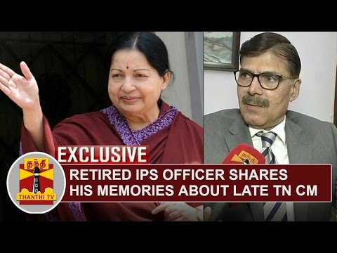 FULL INTERVIEW | Retired IPS Officer K.Vijay Kumar shares his memories about Late TN CM Jayalalithaa