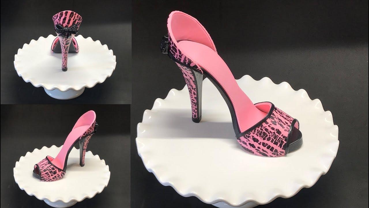 how to make cracked effect gumpaste fondant high heel shoe youtube. Black Bedroom Furniture Sets. Home Design Ideas