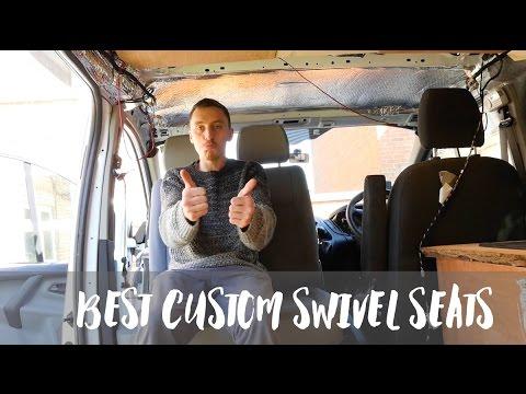 ford transit custom single passenger seat swivel