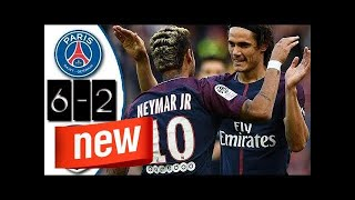 PSG vs Girondins Bordeaux 6-2 Highlights Resumen Goles 30/09/2017