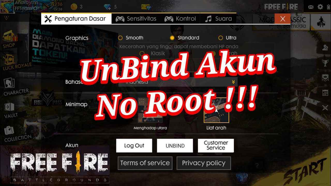 Cara Unbind Menghapus Akun Facebook Free Fire Garena Authenticator Youtube