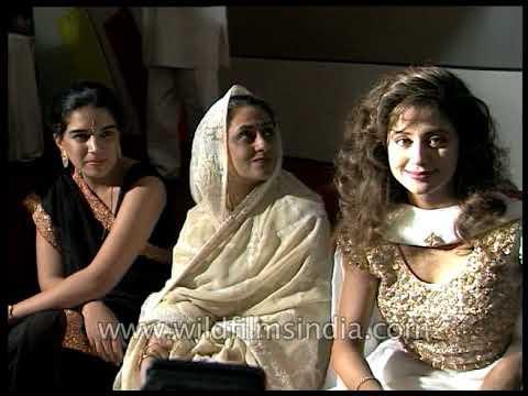 Urmila Matondkar, Subhash Ghai, Shekhar Kapur, Aamir Khan at music release of film 'Rangeela'