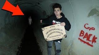we played a 100+ yr old ouija board in the faze rug tunnel... (OUIJA BOARD IN HAUNTED TUNNEL)
