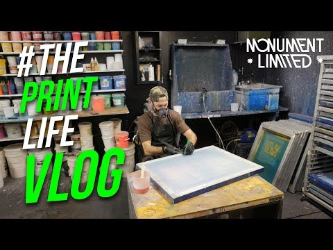 T Shirt Screen Printing Vlog | Behind the Scenes of a Screen Print Shop.