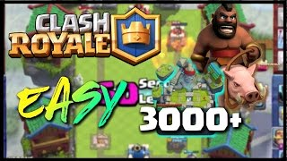 how to get to legendary arena  clash royale   hog cycle deck