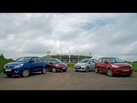 Ford Figo Aspire Vs Honda Amaze Vs Tata Zest Vs Hyundai Xcent Diesel
