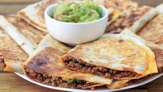 Cheesy Ground Beef Quesadillas Recipe