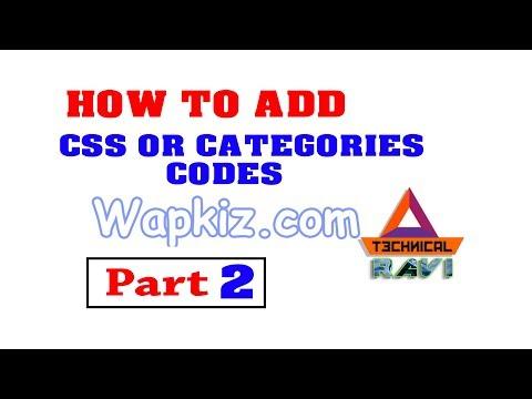 Wapkiz Com How To Add CSS & Select Categories Code Technical