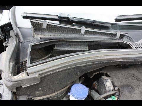Как заменить воздушный фильтр салона фильтр пыли, пыльцы на Peugeot 2008
