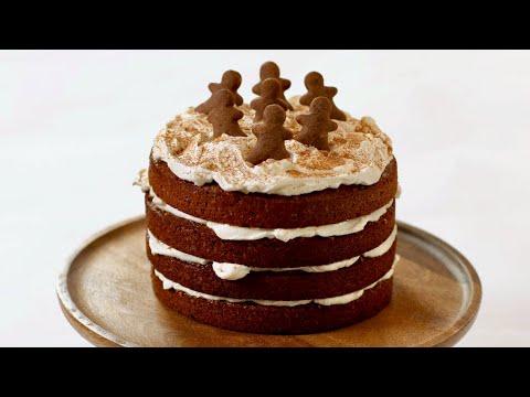 gâteau-à-etages-façon-pain-d'epices-(gingerbread-layer-cake)-|-recette-de-noël-|-william's-kitchen