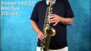 Yamaha YAS 23 Alto Sax 270,xxx