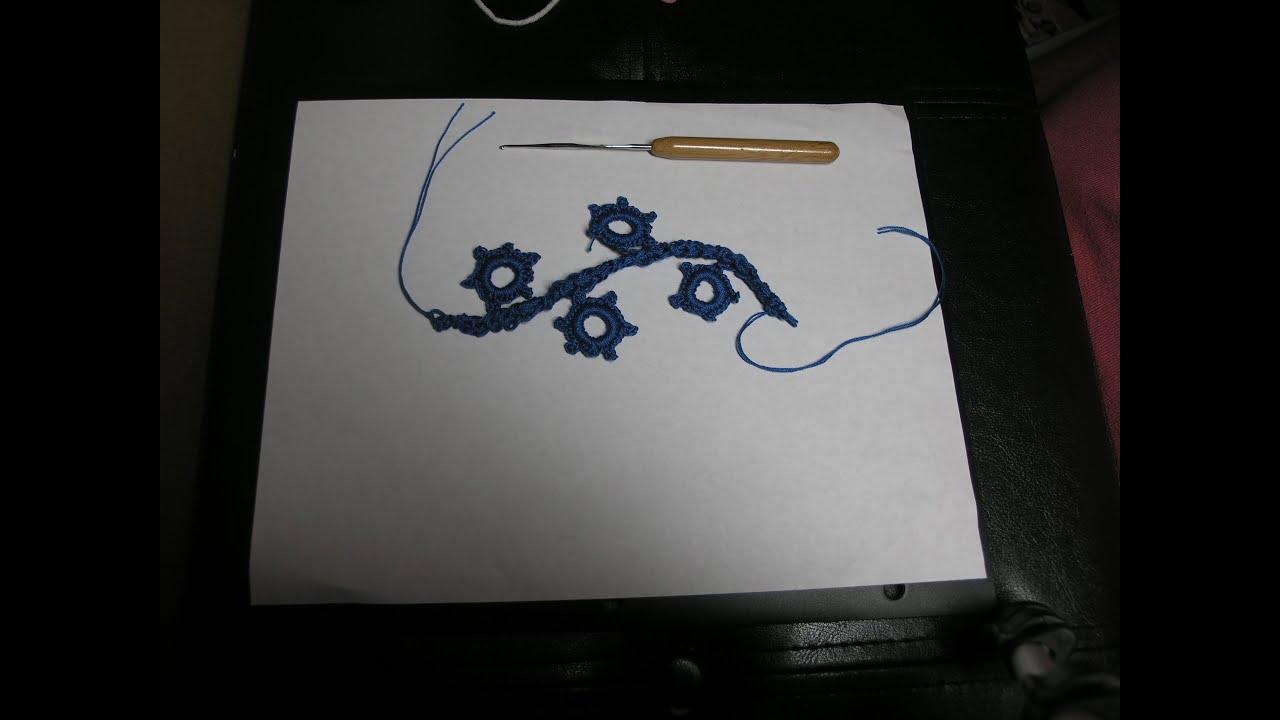 Tutorial sencilo crochet como tejer cordon rumano para encaje ...