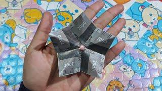 Tutorial cara membuat bunga Hana dari uang kertas