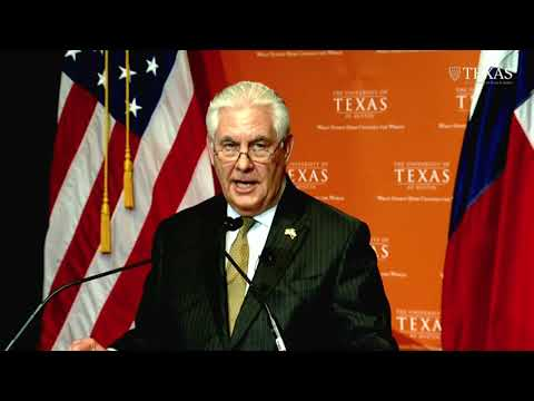 Secretary Rex Tillerson: Western Hemisphere policy at U. of Texas Austin 2/1/2018