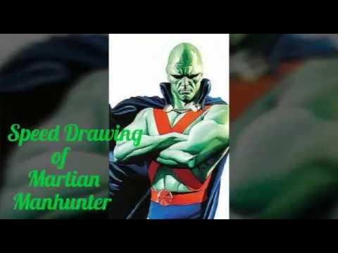 Martian Manhunter Speed Drawing