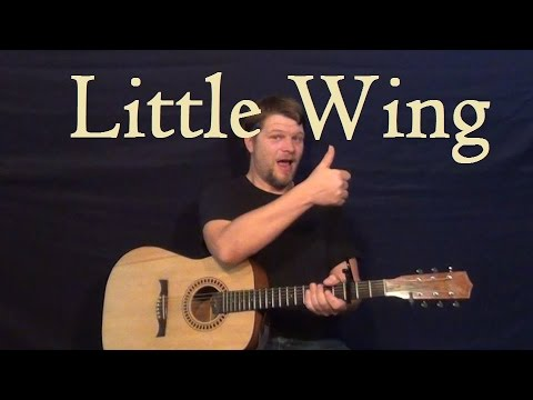 Little Wing (Jimi Hendirx) Guitar Lesson Easy Strum Chord How to ...
