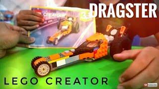 Unboxing Lego Creator Seri 31059 Dragster (Membuat Mobil Drag Race LEGO)