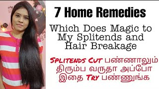 Try These Home Remedies To Get Rid of Split ends, Hair Breakage & Dryness | Tamil | VINI'S HAIR CARE