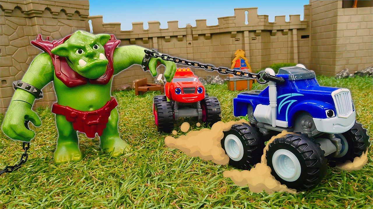 🏰 Blaze y Crusher en el castillo medieval. Historias de coches de juguete