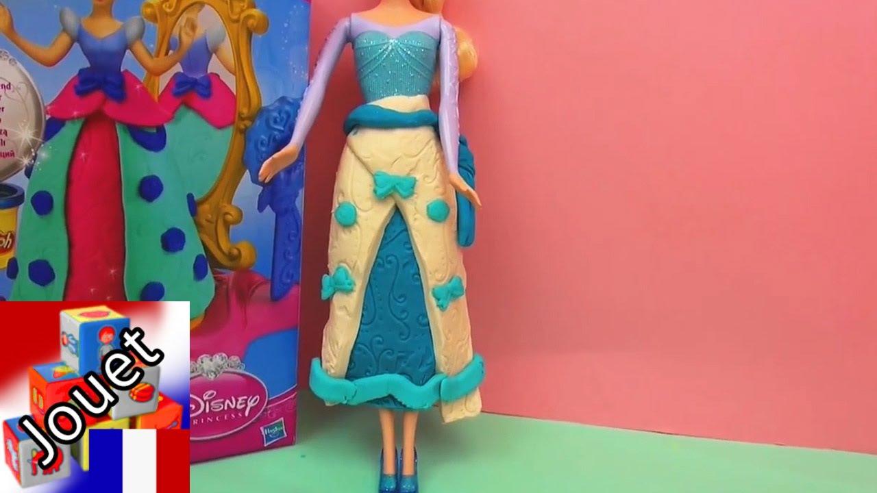 Disney Reine des Neiges PRINCESSE ELSA avec robe en pâte à modeler - YouTube