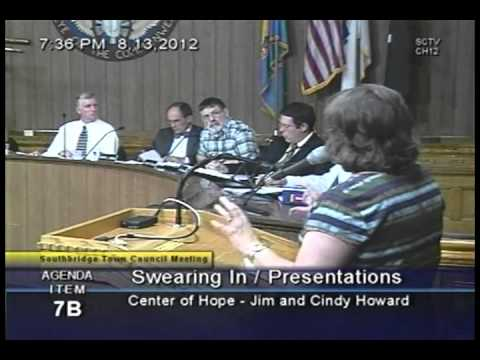 Southbridge Town Council Meeting, August 13, 2012