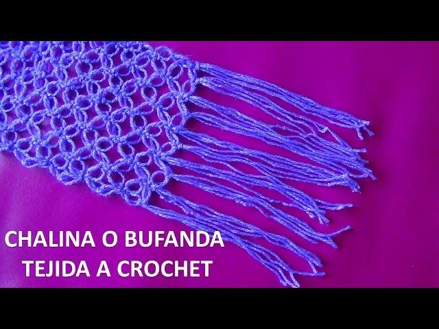 bufanda o chalina tejido a crochet en punto espuma de mar paso a paso , YouTube