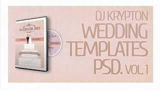 DJ Krypton Wedding Templates. PSD. Vol. 1.
