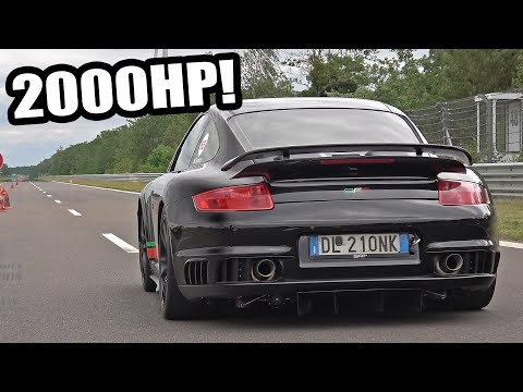 2000HP Porsche 9ff 911 GT2 Turbo Acceleration 0-364 KM/H! 😱