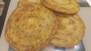 Katlama. Таджикская катлама в духовке с разными начинками .  Самая слоёная лепёшка.