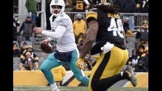 Matt Moore Blasted By Steelers Bud Dupree HD