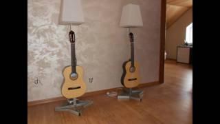Как сделать светильник (торшер) своими руками. How to make a floor lamp.(Изготовление торшера (напольного светильника) из акустической гитары. How to make a floor lamp., 2016-06-18T12:06:35.000Z)