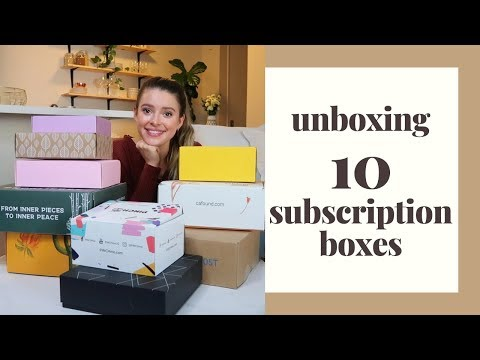 Comparing & Unboxing TEN SUBSCRIPTION BOXES!