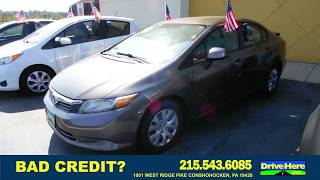 2012 Honda Civic, 100% Application Review Policy