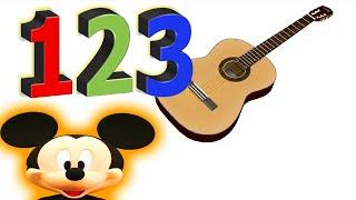 Nummern Lernen Kinder Gitarre Videos Mickey Mouse Musical