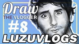 [DRAW THE VLOGGER #8] LUZUVLOGS - Speed painting