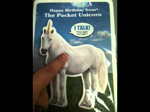 Talking Unicorn Birthday Card YouTube – Talking Happy Birthday Cards