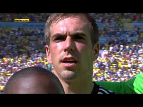 National Anthems World Cup 2014. Germany - France. HD