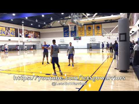 Stephen Curry shooting around after Golden State Warriors practice, day before Sacramento preseason