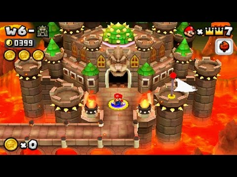 New Super Mario Bros 2 - World 6 Final Castle