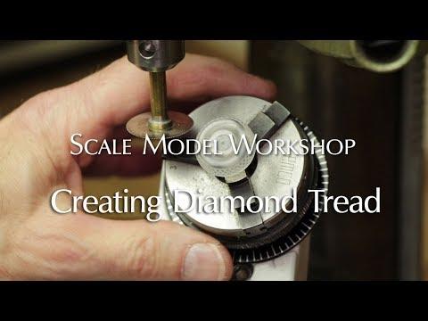 Creating a Diamond Tread Pattern Tire