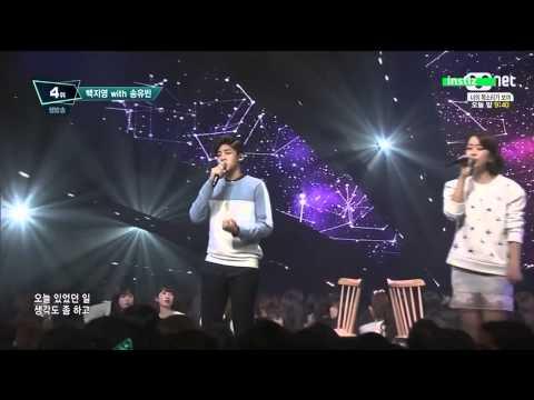 150409 Baek Z Young & Song Yubin 백지영 & 송유빈Garosugil at dawn 새벽 가로수길 @ M! Countdown