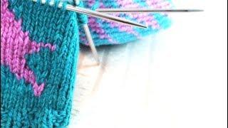 Интарсия по кругу в сложных узорах   Многоцветное вязание по кругу   Укрощение четырех клубков