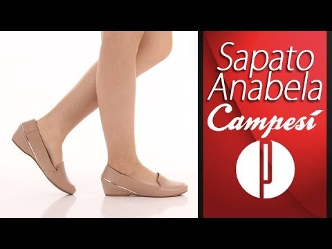 b1bee9539e Sapato Anabela Feminino Campesi - Natural - 6030394763 - YouTube