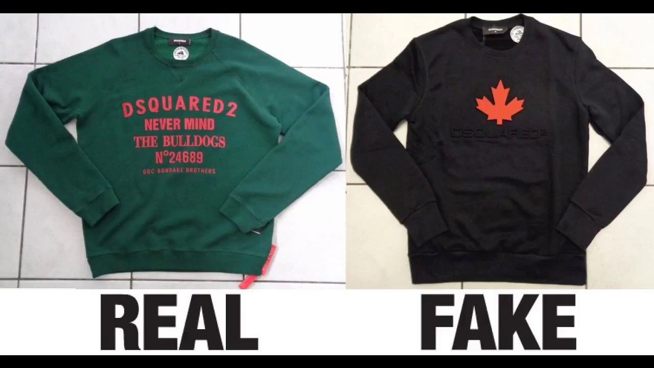 How To Spot Fake Dsquared2 Sweatshirts Clothing Authentic Vs