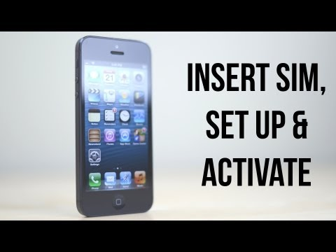 iPhone 5: How To Set Up, Activate & Insert / Remove SIM Card