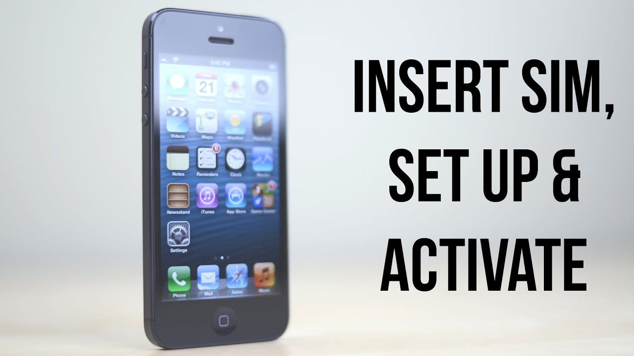 How To Insert Sim Card In Iphone