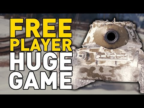 FREE PLAYER - HUGE GAME in World of Tanks!