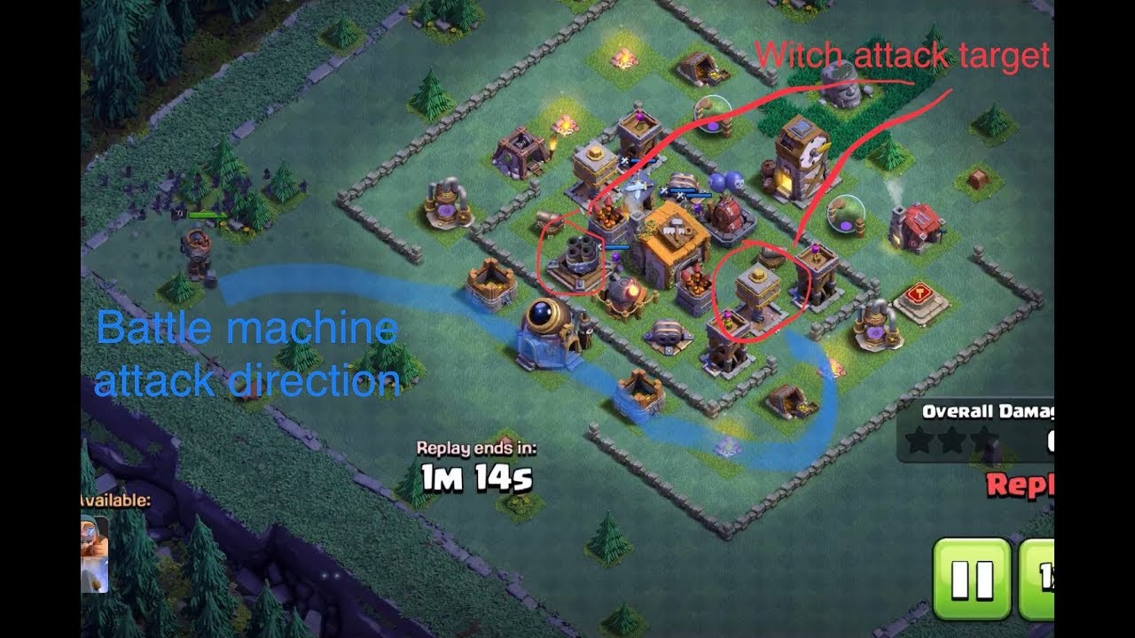 3 Stars Part 1 BH Level 6 Witch Attack Strategy Builder's ...