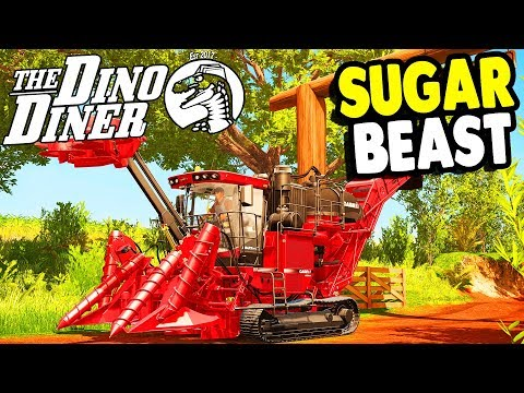 DINO DINER Monster HARVESTER & BIG CREW | Rappack Farms #75 | Farming Simulator 17 Gameplay