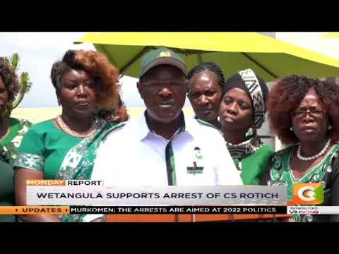 Wetangula supports arrest